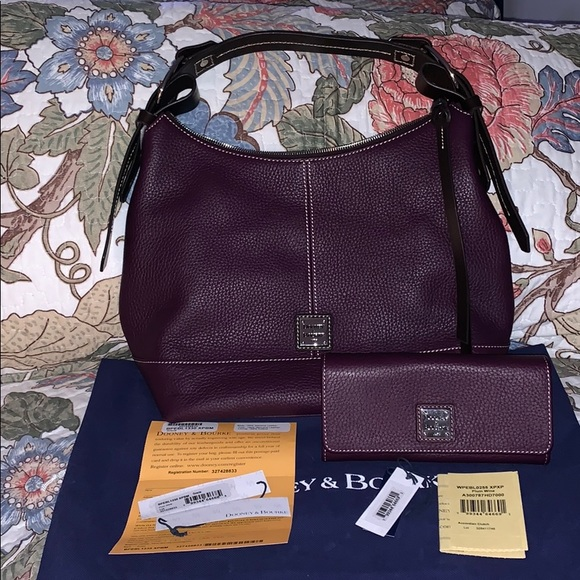 "Dooney & Bourke Handbags - Dooney & Bourke ""Gracie"" Hobo w/matching wallet"
